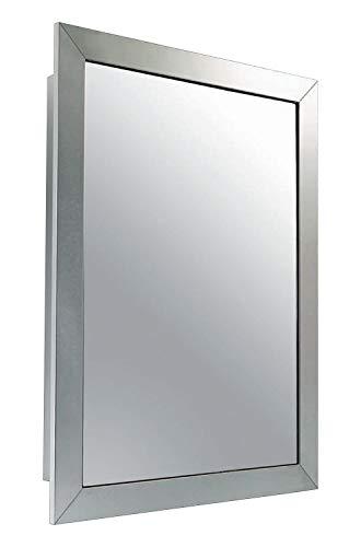 Ketcham Premier Aluminum Wide Frame Surface Mounted Medicine Cabinet - 18
