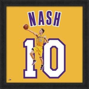 Biggsports Steve Nash Los Angeles Lakers 20 x 20 Framed Uniframed Jersey Photo by Biggsports