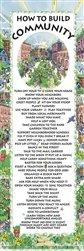 How to Build Community Karen Kerney Motivational Poster Print