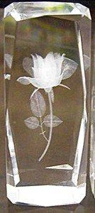 AIE 3D Laser Engraved Crystal Decoration for Home Rose 4.7''H -