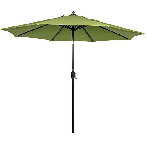 - Sundale Outdoor 8.2 Ft Sunbrella Fabric Patio Garden Market Umbrella, Push Button Tilt and Crank (Macaw Green)