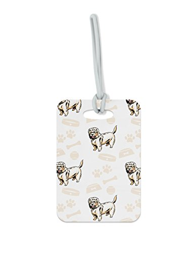 "Price comparison product image Dutch Smoushond Dog Bone Bowl Collar Luggage Tag Finder Brief Case - size 2.5"" x 4.25"""