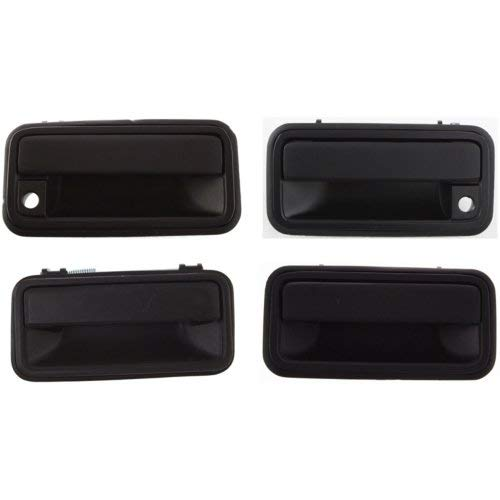 Exterior Door Handle Compatible with CHEVROLET C/K Full Size P/U 1992-2000 Front and Rear Door Handle Right Side and Left Side Set of 4 Outside Metal Textured Black