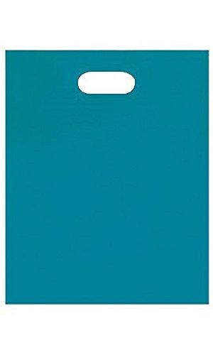 Medium Low Density Teal Merchandise Bags - Case of 1,000 by STORE001