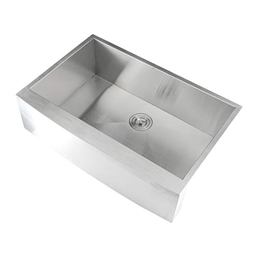 (On Sale Aquarius Undermount ApronFront Farmhouse Stainless Steel Kitchen Sink)