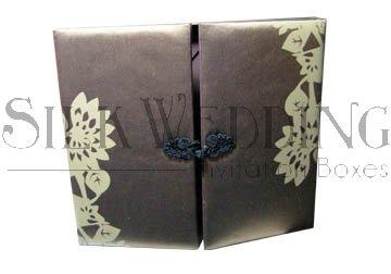 Silk Invitation Box - Wedding Favor Box with (Silk Box Wedding Invitations)