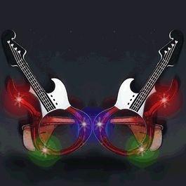 blinkee Guitar LED Sunglasses Red by