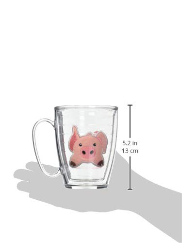 Tervis 1133504 Front & Back Pig Insulated Tumbler with Emblem, 16oz Mug, Clear by Tervis (Image #3)