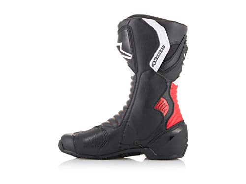 Alpinestars SMX-6 V2 Men's Street Motorcycle Boots - Black/Red / 45