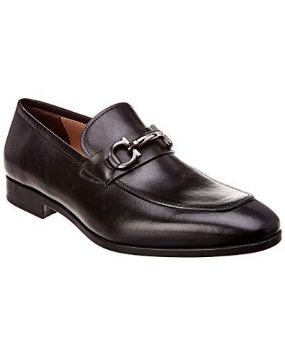 Salvatore Ferragamo Gancini Leather Moccasin, 7.5 Ee Nero