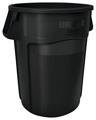 Rubbermaid Commercial Products 1779739 Brute Heavy-Duty Round Trash/Garbage Can, 55-Gallon, Black