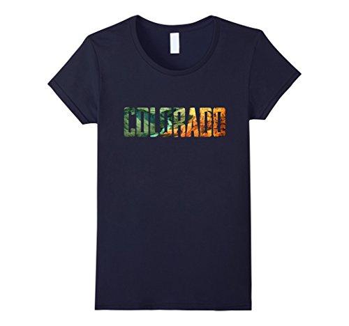 Womens Cool Design  Colorado T Shirt Large Navy
