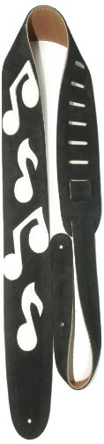 (Perris Leathers P25SMN-202 2.5-Inch Soft Suede Guitar Strap with Music Notes)