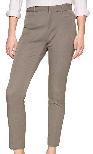 Banana Republic Womens Curvy Sloan Heathered Slim Ankle Pant, Green -