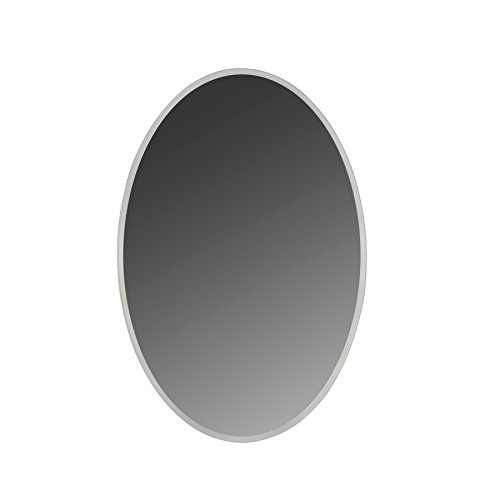 MAYKKE Madison 24'' W x 36'' H Oval LED Mirror, Wall Mounted Lighted Bathroom Vanity Mirror, Frameless Mirror, Horizontal or Vertical Mirror with LED Lighting Border UL Certified, LMA1032401 by Maykke (Image #6)