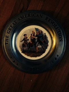 The Spirit of '76 Canton Pewter The Great American Revolution 1776 Vintage Patriotic Pewter Plate