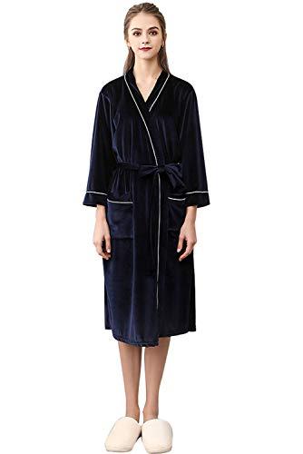 invierno Pijamas Aibayleef Conjunto Hombre Albornoz Ropa terciopelo Mujer Vestido c de de dormitorio Albornoz de nOOqSZCw
