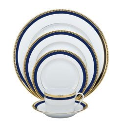 Haviland Symphony Gold & Blue Footed Cake Platter ()