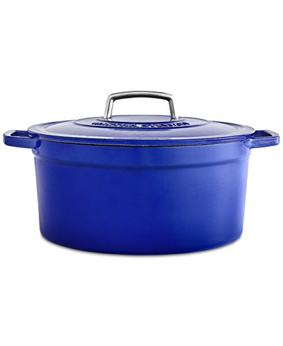 6 Quart Casserole (Collector's Enamled Cast Iron 6 QT. Casserole Cookware | Exceptional Quality Cast Iron For Browning | Braising | Stewing | Casseroles & Much More | By Martha Stewart (Indigo))
