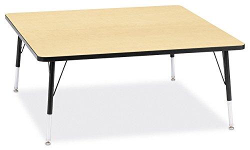 Jonti-Craft Ridgeline Kydz Square Activity Table (15-24 in. H - Maple)