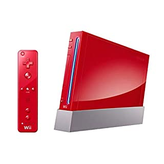 Nintendo Wii Console (Red) (Renewed)