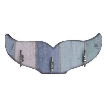 Sunbelt Gifts 7602-01 Whale Tail Wooden Wall Key Rack, Multi