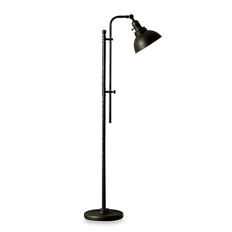 Bleeker Adjustable CFL Floor Lamp updates your space with Classic Style
