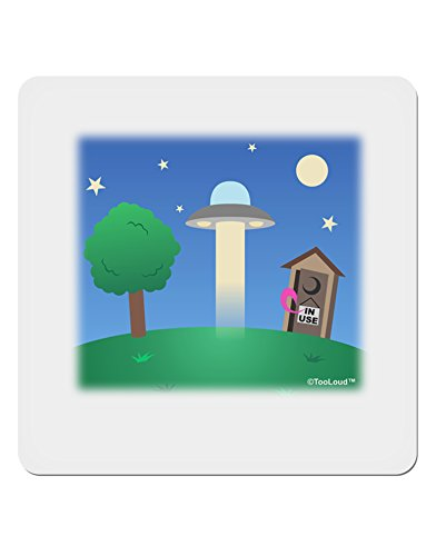 TOOLOUD UFO Stopping at an Out-House 4x4 Square Sticker