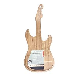 Kikkerland Guitar Cutting Board Tagliere, Alluminio, Legno, 49x22x2 cm 10