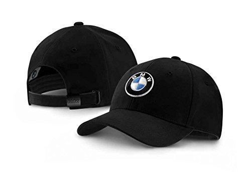 BMW Genuine Collection Emblem Logo Peaked Cap Adjustable Hat Black 80162411103 80 16 2 411 103