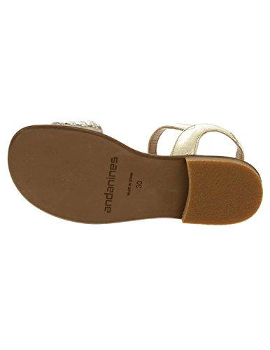 ANDANINES Sandale Brillos als Gold-Ni plattiert Mehrfarbig