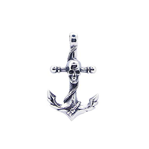 Gungneer Navy Anchor Skull Necklace Nautical Pendant Military Jewelry Accessory for Men (Lost Arrow Corp)