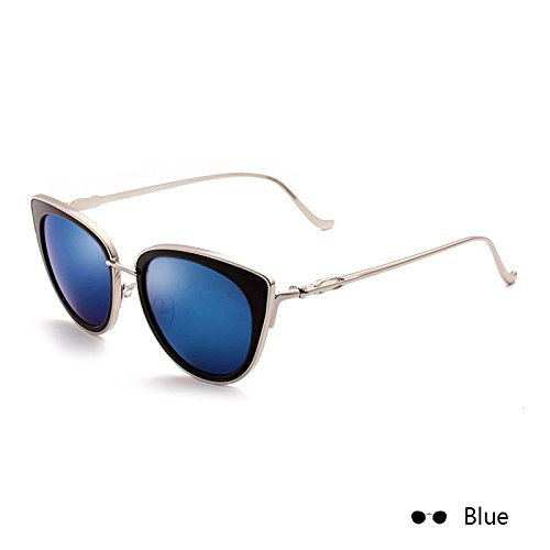 Mujer Leopard Gafas Of De Sol Blue Espejo Metal Gafas De Eye TIANLIANG04 Retro Vintage Lord Sol De Hembra En De Eyewear The Cat qtwpZFx1d