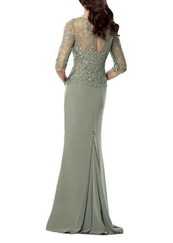 Festlichkleider Promkleider Chiffon Grün Abendkleider Brau Langes La Brautmutterkleider Etuikleider mia Partykleider qpwpS