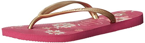 Women's Sandals Havaianas Thong Rose Organic Slim Strap Raspberry On Slip UxwwOdq6T1