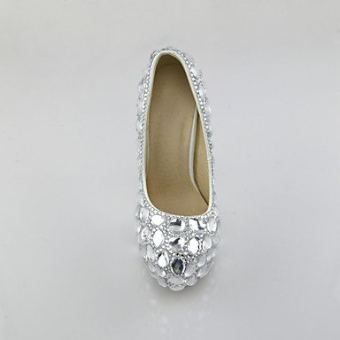 leather heels wedding heels amp; faux dress high high heels women's Cirior women's shoes festival party silver qgYEOAw