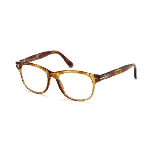 Tom Ford FT 5399 050 Brown Havana Plastic Square Eyeglasses 50mm