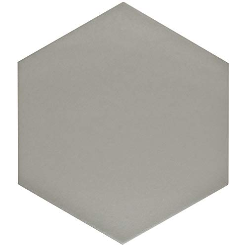 SomerTile FCD10STX Abrique Hex Porcelain Floor and Wall, 8.63'' x 9.88'', Silver Tile 8.625'' x 9.875'' 25 Piece by SOMERTILE (Image #13)