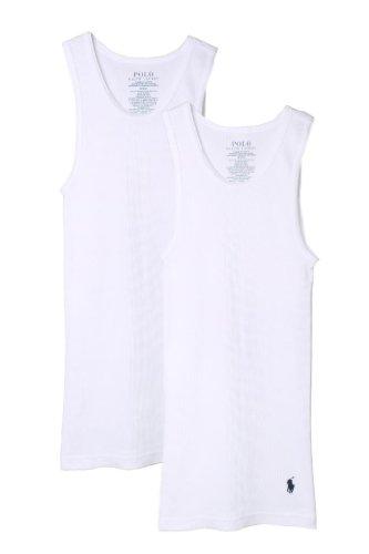 (Polo Ralph Lauren Kids/Boys 2 Pack Ribbed Tank Undershirt L White )