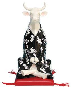 Meditating Cow (Medium) by CowParade (Christmas A Sponsor For Pet)