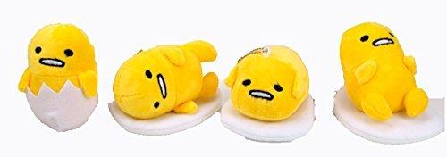 4' Mini Figure (4 Pcs 4'' Gudetama Mini Plush Soft Toys Collection)