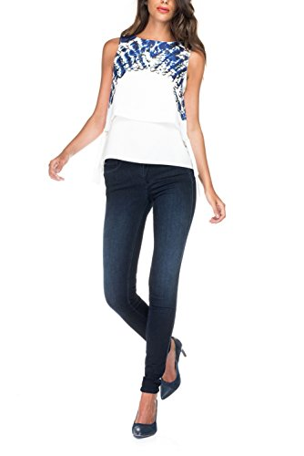 Secret Push Bleu Jean Haut Salsa Taille in xRvtTz