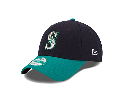MLB Seattle Mariners Alt The League 9FORTY Adjustable Cap, One Size, Navy from New Era