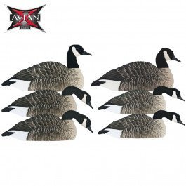 Goose Decoy Paint (AVIAN-X AXF Honker Flocked Shell Decoy 6-Pack Goose Hunting 9035)