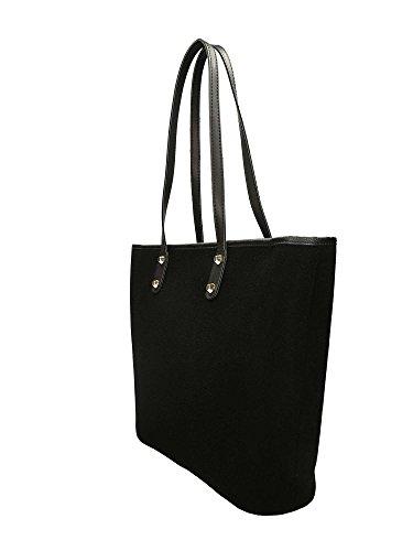 Noir Noir nero bag Borsa Borsa shopping shopping Cafè bag BII002 Cafè dvxqT8