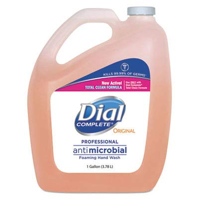 Dial Professional Antimicrobial Foaming Hand Soap, 128 Fl - Wash Refill Method Hand Foaming
