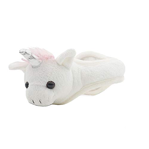 (180S Youth and Kids Unicorn Plush Thermo Insulated Ear Warmers - Adjustable Size, White/Pink)