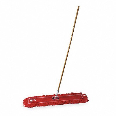 Tough Guy 1TZB7 Dust Mop Kit, Cotton, Sz 36 In, Red/Red