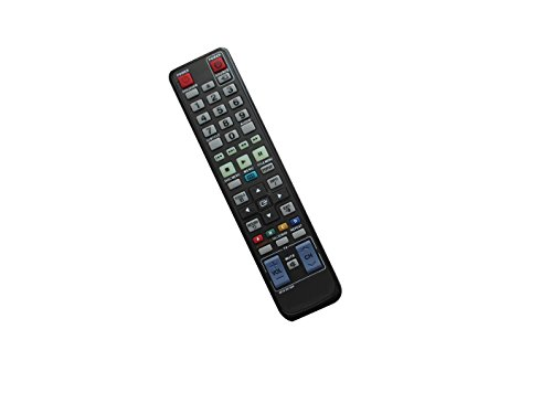 Universa Replacement Remote Control for Samsung BD-D5500/ZC BD-D5300/RU BD-P4600 BD-C7500 BD-D5100 BD-C5900/XAC BD-C6500/XSA AK59-00172A BD-P1400 BD-P2500 BD 3D Full HD Blu-Ray Disc DVD Player