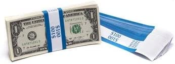 Self-Sealing Money Bands for Organizing Cash Dunbar Security Products Currency Straps Brown, 100 x $50